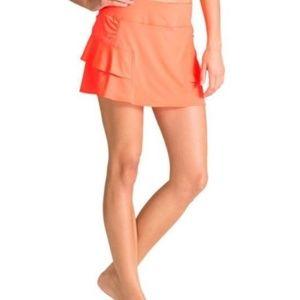 Athleta small orange workout skirt skort